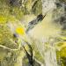 Yellow eruptions II (130x100 cm, vegyes technika, fatabla, 2014)
