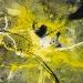 Yellow eruptions I (100x130 cm, vegyes technika, fatabla, 2014)