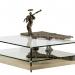 Szent Antal prédikál a halaknak (40x60x60 cm, bronz, üveg, kő, 1999)