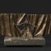 Egyszemélyes színház (20x40x25 cm, bronz, kő, 2013)