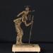 Szent Kristóf (15x15x24 cm, bronz, kő, 2013)