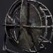 Meditáció I. / Meditation I. (134x22x11 cm, viaszveszejtéses bronz, vas, bazalt, lost-wax bronze, iron, basalt, 2012)