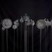 Meditáció sorozat II. / Meditation series II. (viaszveszejtéses bronz, vas, bazalt, lost-wax bronze, iron, basalt, 2013)