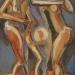 Gráciák II. / Graces II. (55x35 cm, olaj, vászon, oil on canvas, 2007)