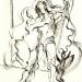 Vénusz és Adonisz II. / Venus and Adonis II. (16,5x13 cm, tus, toll, papír, India ink and pen ink, on paper, 2007)