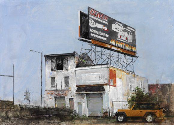 Kulvarosi szerelomuhely _ Philadelphia (50x70 cm, olaj, vaszon, 2009)_eng