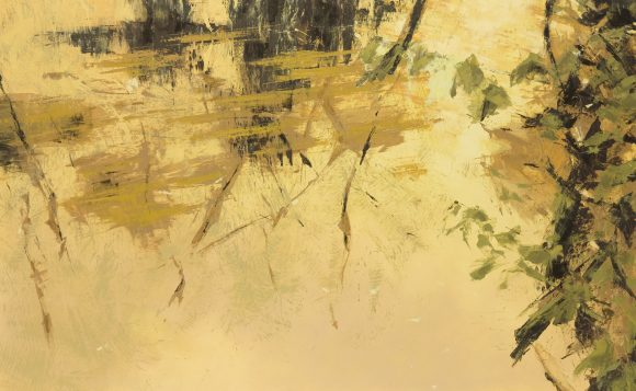 Flux LVIII (130x210 cm, olaj, vaszon, 2014)