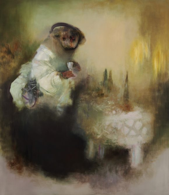 Vernissage (230x200 cm, olaj, vaszon, 2010)_eng