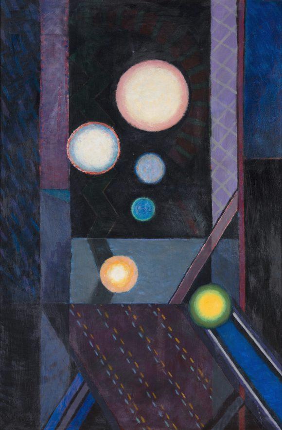 Csillagvetuletek (170x115 cm, olaj, farost, 2009)_eng
